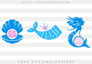 Mermaid Monogram Bundle