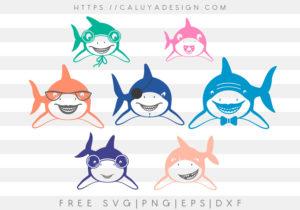 Shark Family SVG