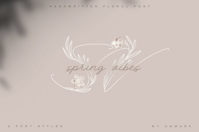 Spring Vibes Floral Font
