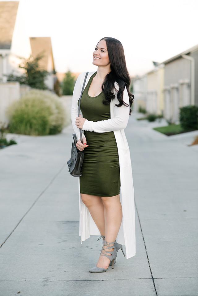 Cream long cardigan