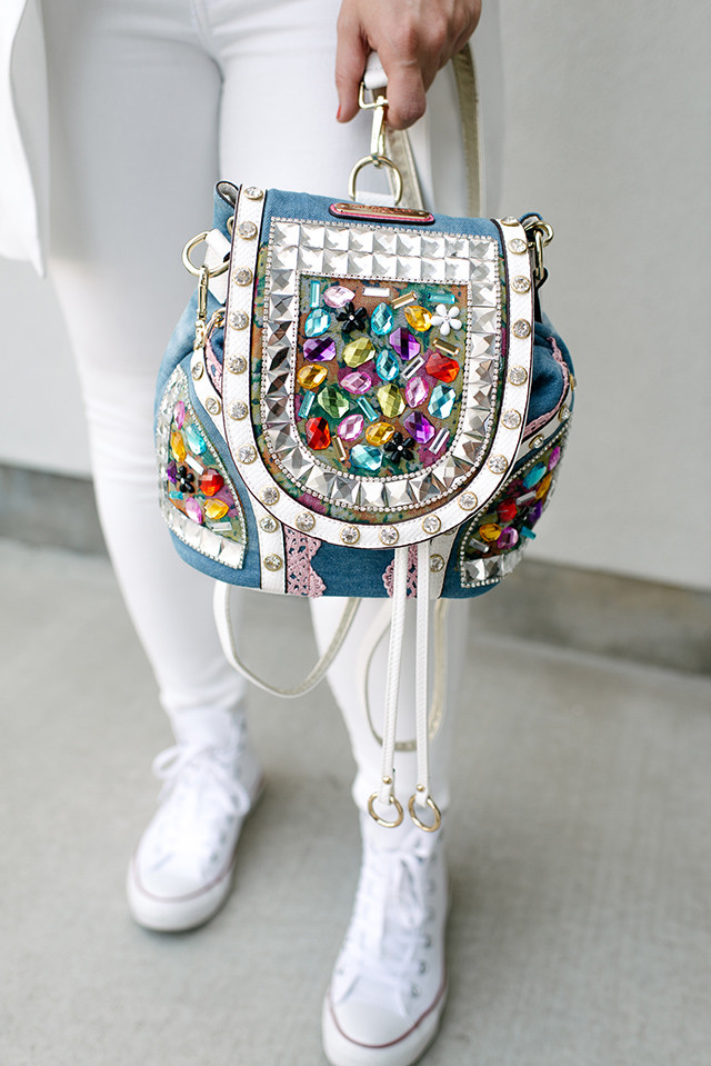 Embellished Backpack