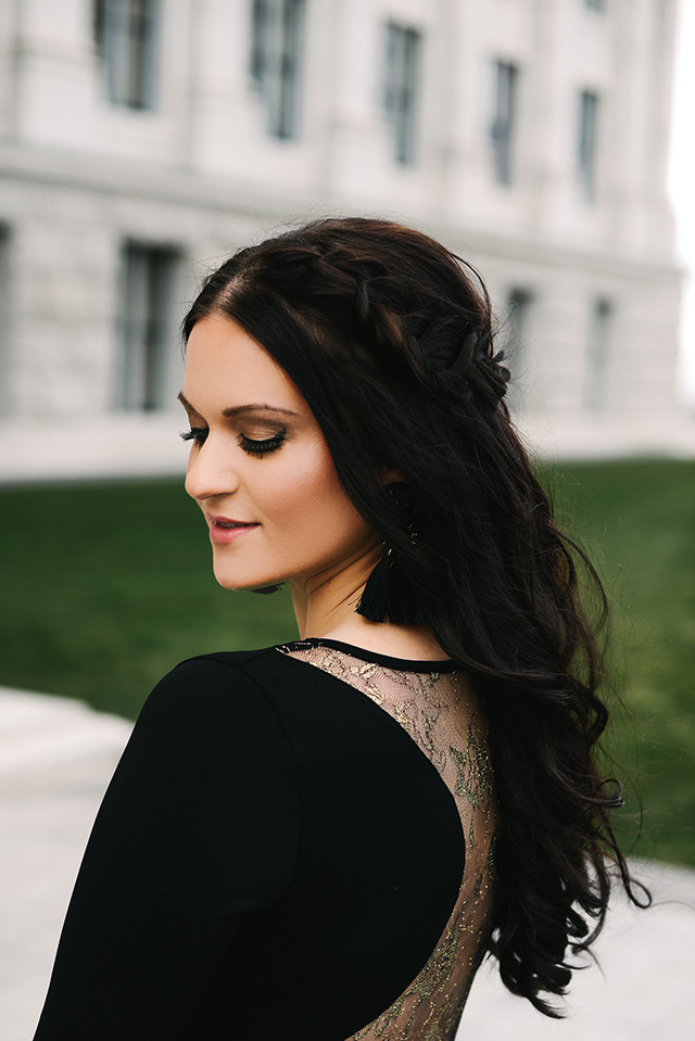 Lace Backless Dress