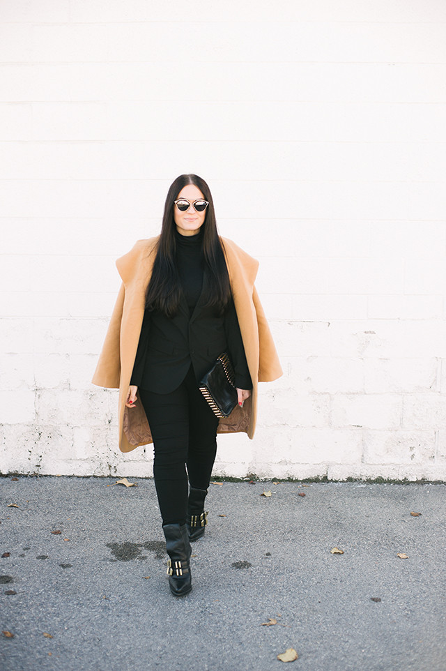 Monochromatic Black Outfit