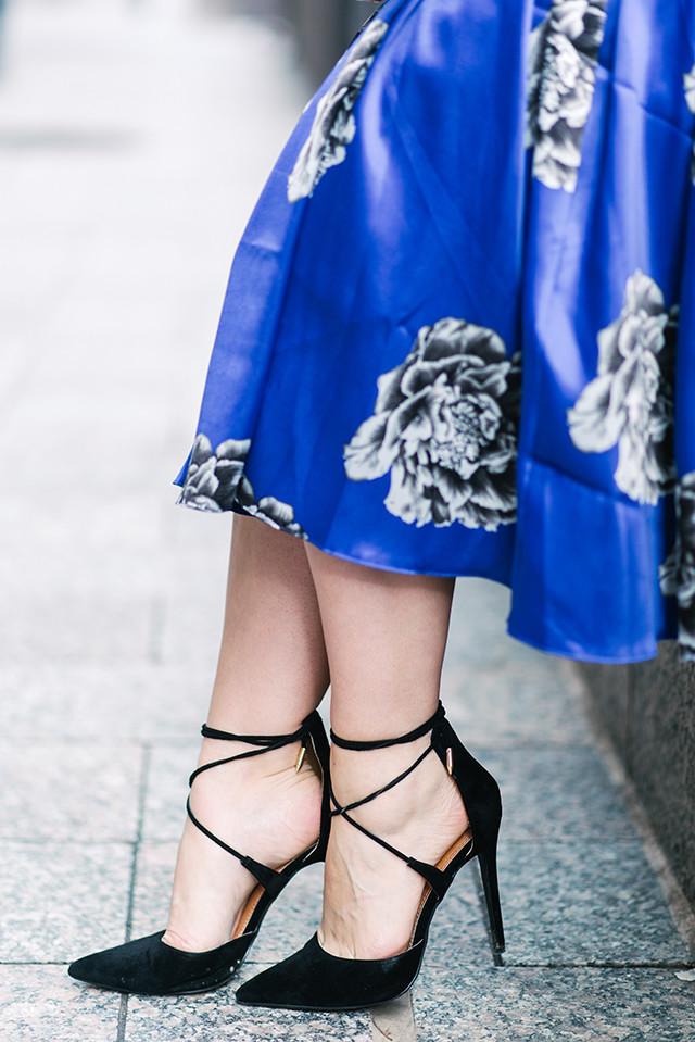 Black Lace Up Heels