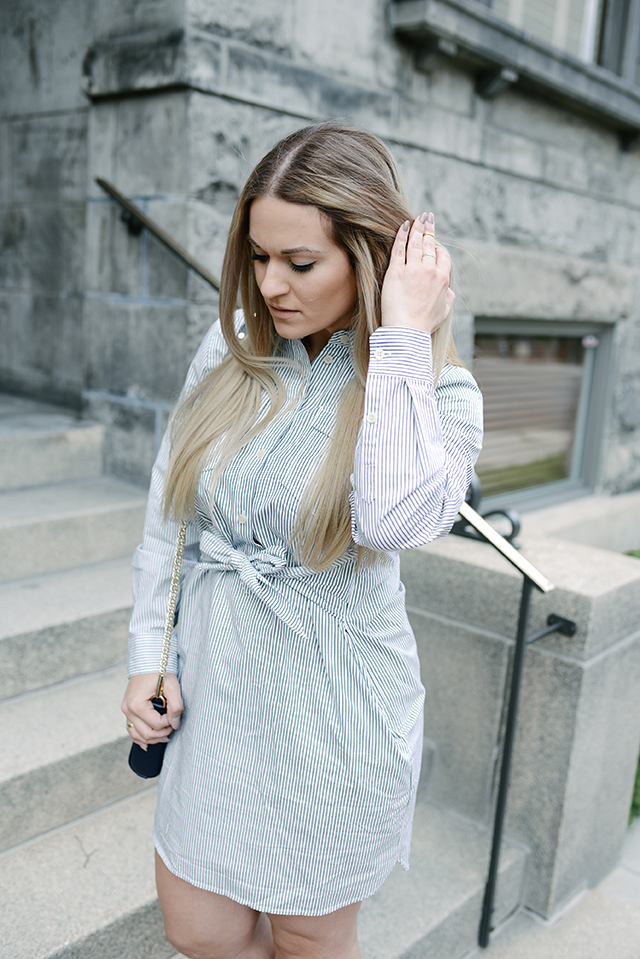 Tie Waist Shirtdress