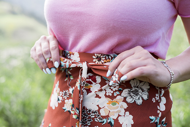 Zara Wrap Floral Skirt