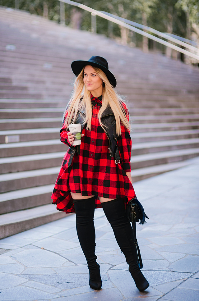 Plaid Dress Outfit