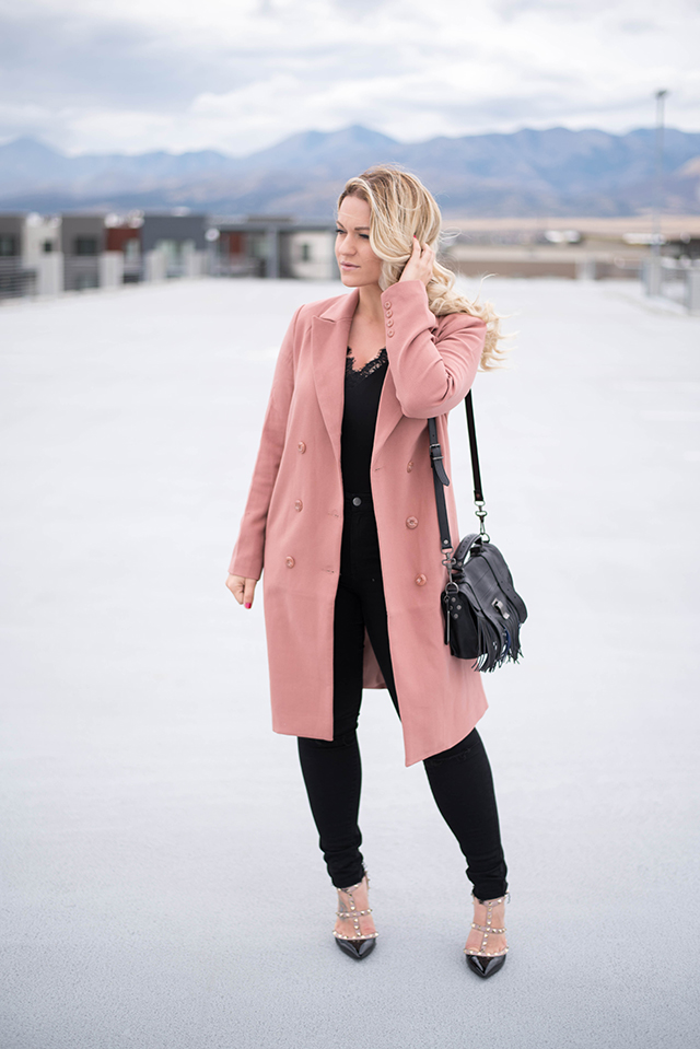 Forever 21 Button-Front Trench Coat