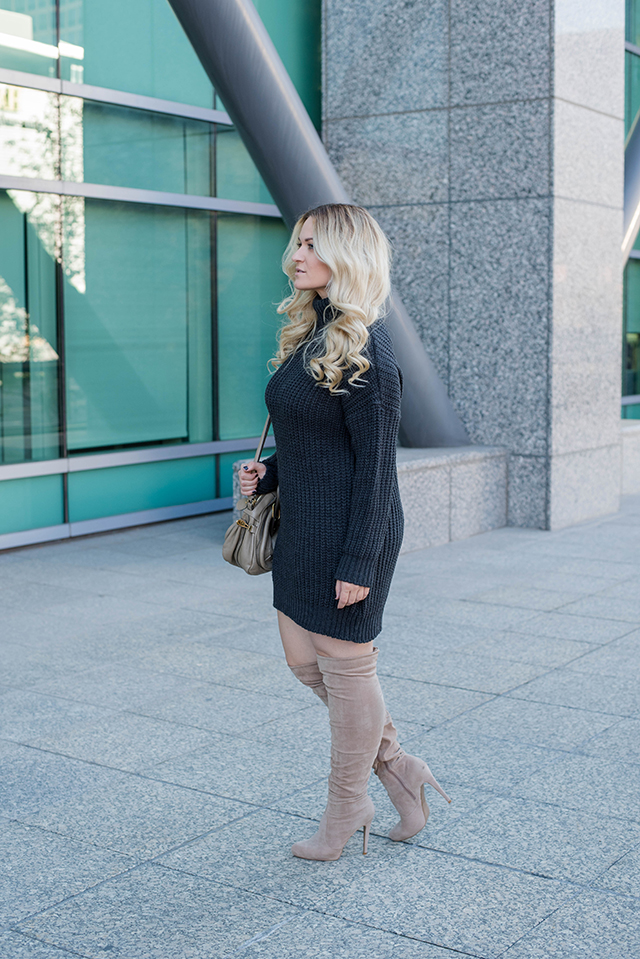 boohoo Sweater Dress Outfit