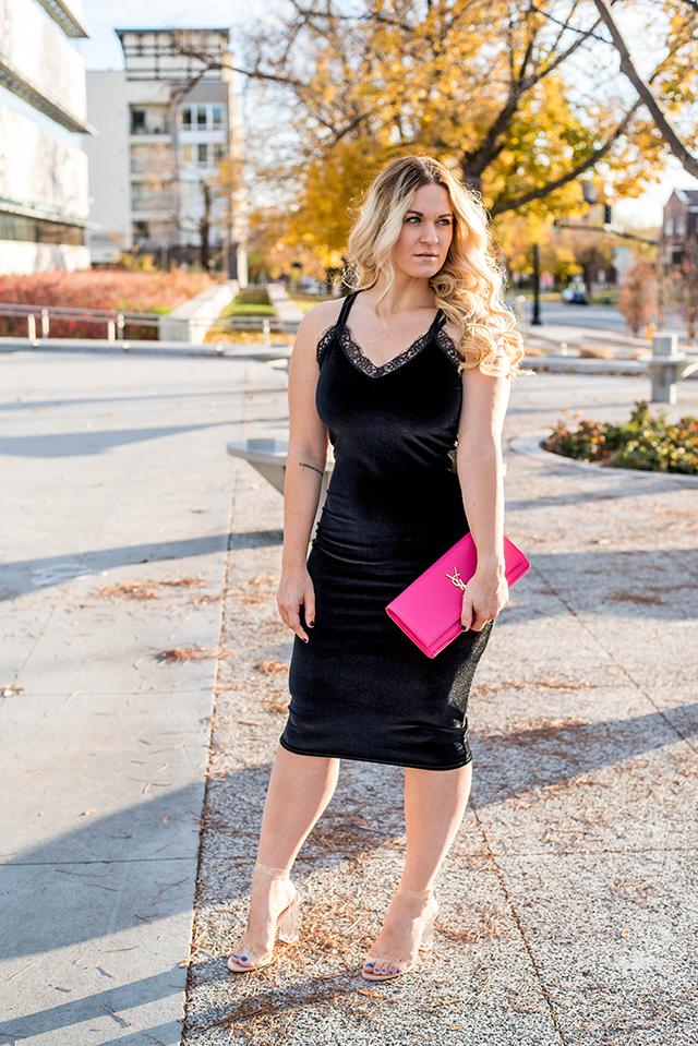 Boohoo Velvet Dress