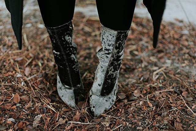 Cape Robbin Velvet Ankle Boots