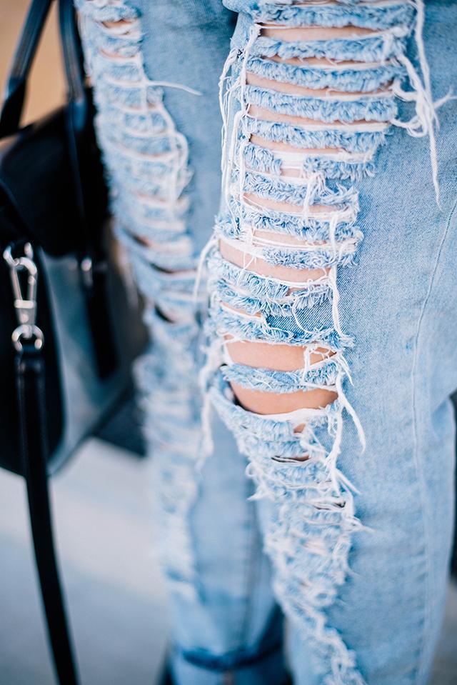 Distressed Denim Jeans