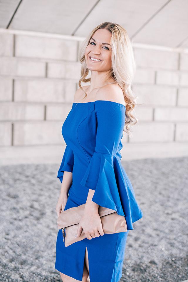 Bell Sleeve Detail Dress