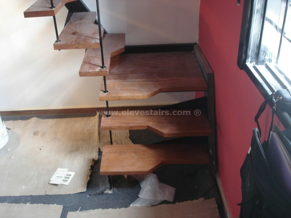 Alternated Treads Stairs Design Space Saving Stairs   Wood Alternating Tread Stair   Modern Staircase   Stair Case   Thomas Jefferson   Spiral Staircase   Tread Depth