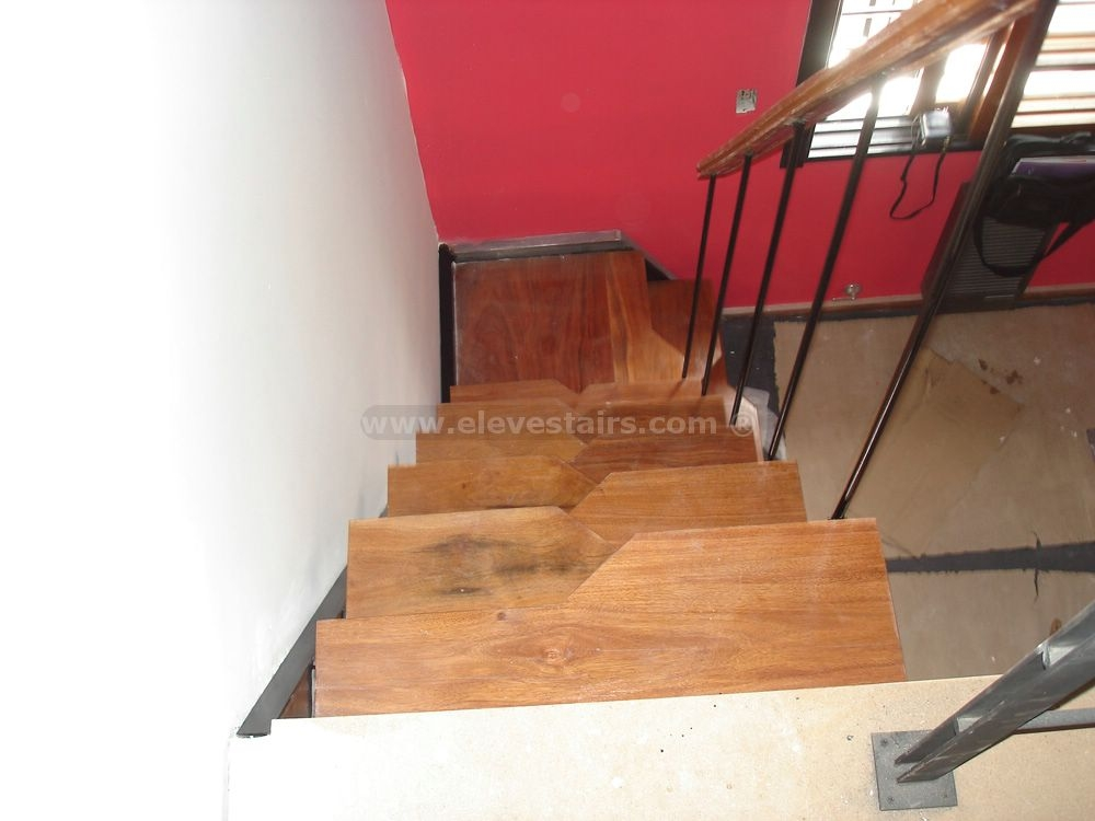 Alternated Treads Stairs Design Space Saving Stairs   Alternating Tread Stair Design   Staggered   Style   Wood   Multipurpose   Double Thickness Tread