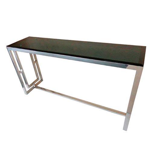 Столик HAZENKAMP из серого стекла и металла