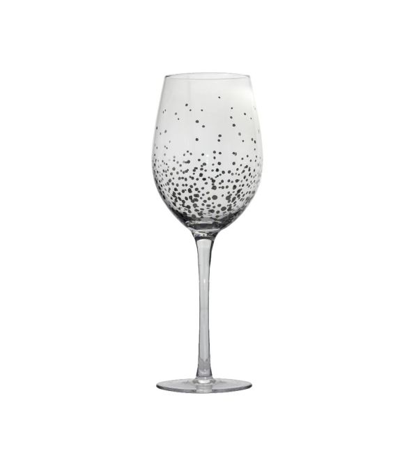 Бокал для вина серебряная капля