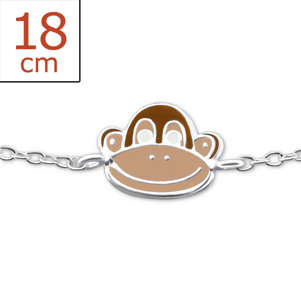 childrens-silver-monkey-bracelet-with-epoxy-and-epoxy-color