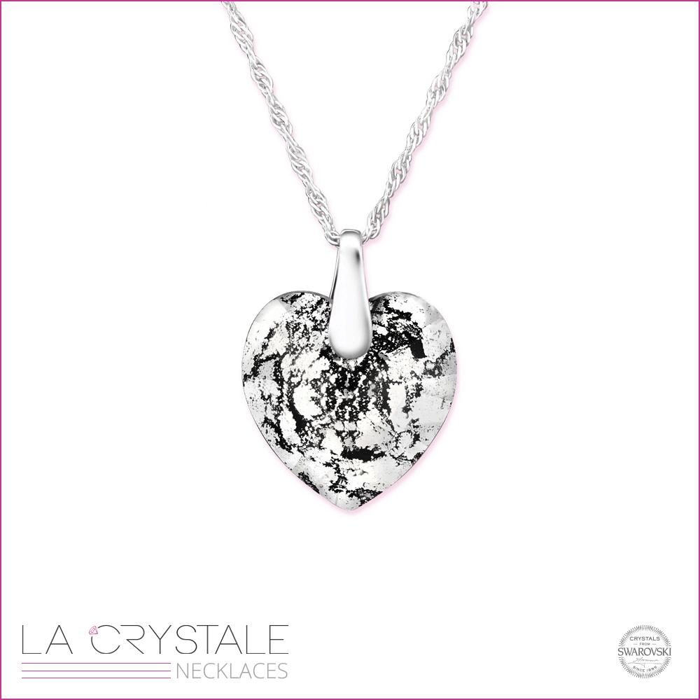 Silver necklace with unique Swarovski® crystal