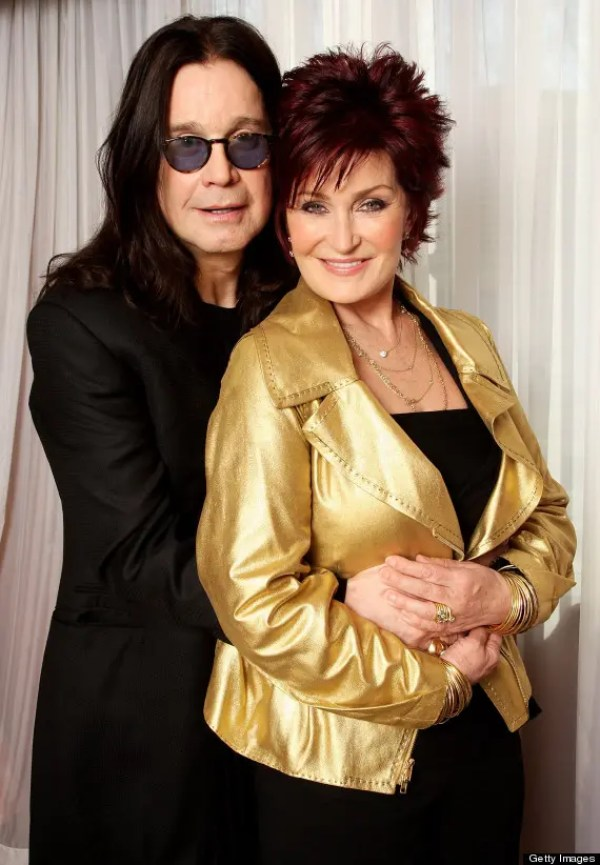 LONDON - FEBRUARY 18:  (UK TABLOID NEWSPAPERS OUT)  Sharon and Ozzy Osbourne pose for a portrait prior to hosting this year's BRIT Awards, at the Dorchester Hotel on February 18, 2008 in London, England.  (Photo by Dave Hogan/Getty Images)