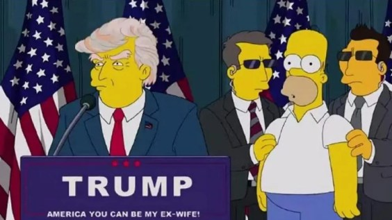 Los Simpson trump
