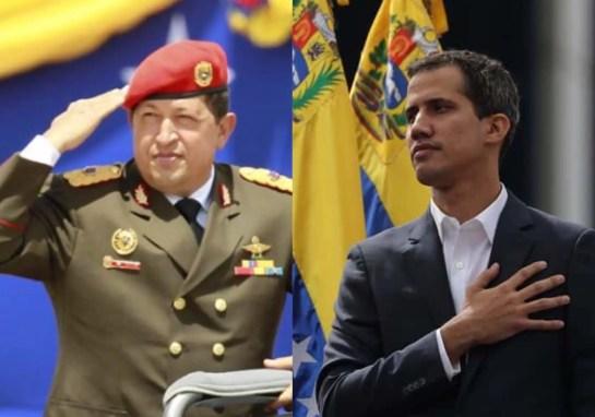 Juan Guaidó y Hugo Chávez