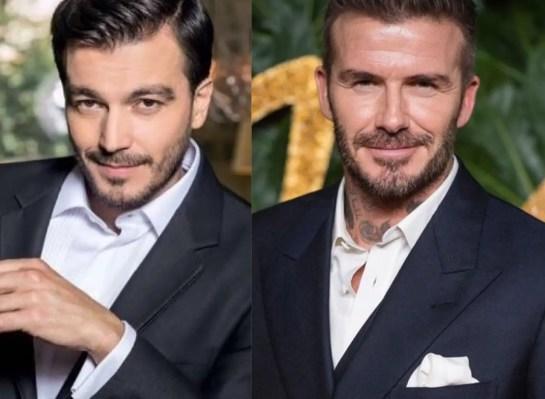 Luciano D'Alessandro y David Beckham