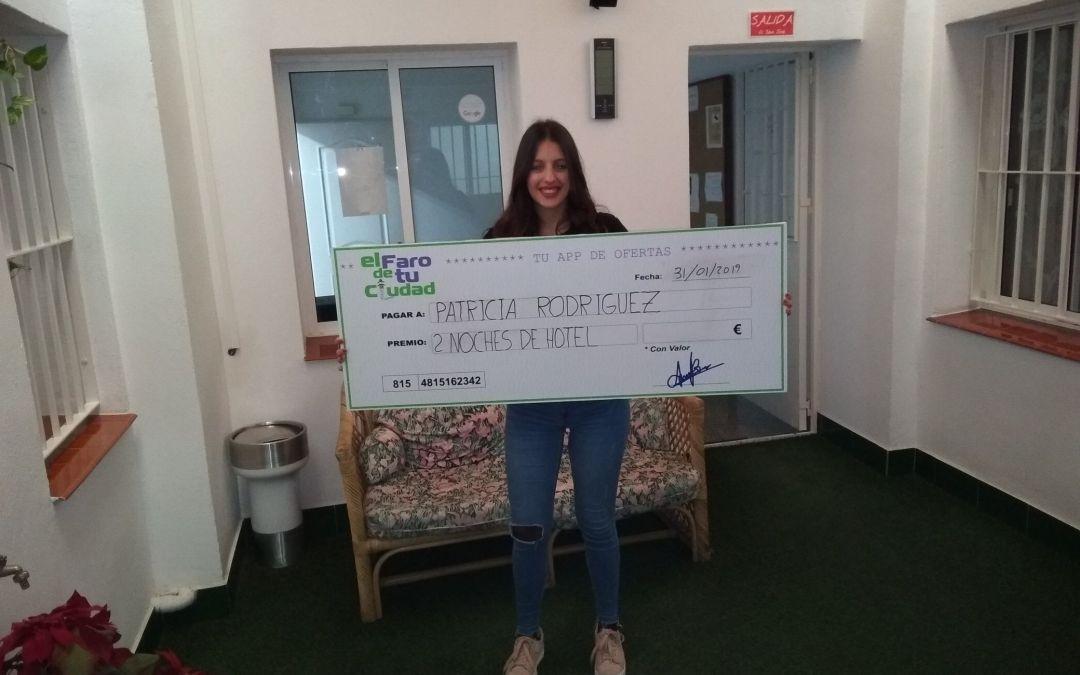 Patricia Gutiérrez gana el sorteo de 2 noches de hotel para dos personas