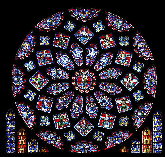 North Rose Window at Notre-Dame de Paris