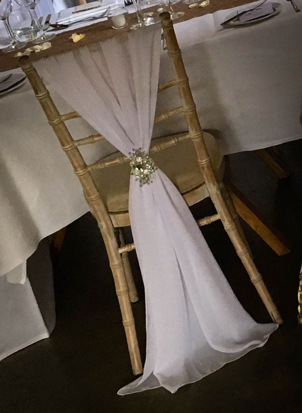 White Chiavari Chair Drape