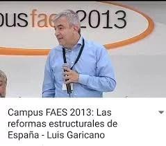 Luis Garicano es miembro de FAES. MENTIRA