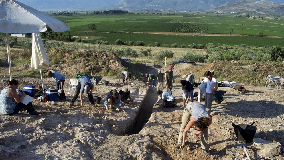 Trabajos de arqueologos