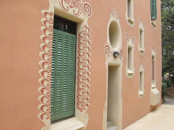 Photograph of exterior decoration on Gaudí's home.