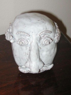 "Photo of ""Head"" sculpture by Gabi (10yo)"