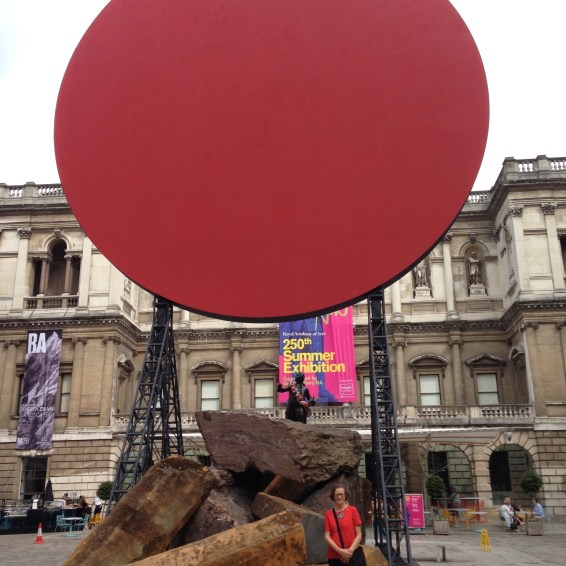 A sculpture entitled Symphony for a Beloved Daughter by Anish Kapoor