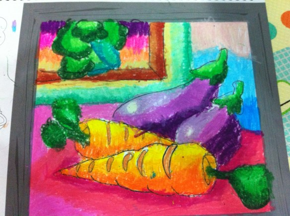 carrots and brinjals colouring