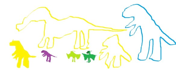 t rex and pteranodon