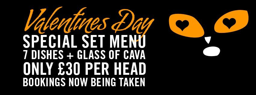 Valentines menu at EL Gato Negro