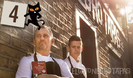 #Advent day 4 reveals Simon & John basking in September sun & plaudits after being awarded our Michelin #BibGourmand