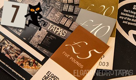 Give a gift guaranteed to make the recipient happy: El Gato Negro gift vouchers https://www.elgatonegrotapas.com/image-item/gift-vouchers/ #advent Day 7