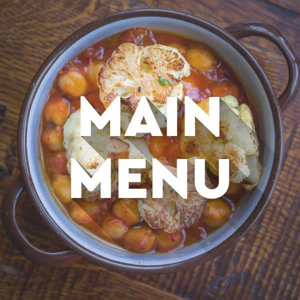 Main menu graphic with chickpeas