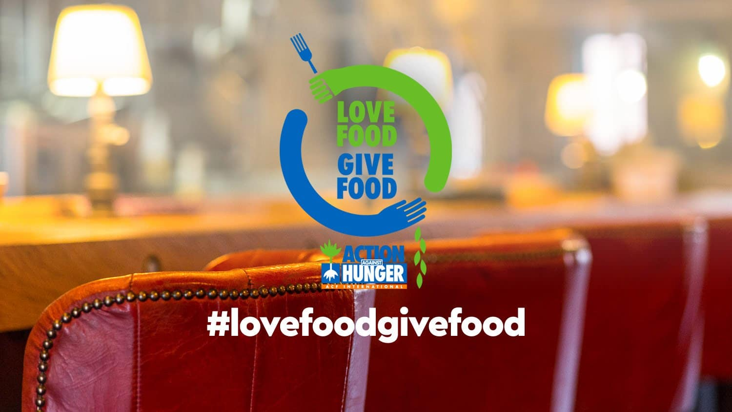 lovefoodgivefood campaign banner action against hunger