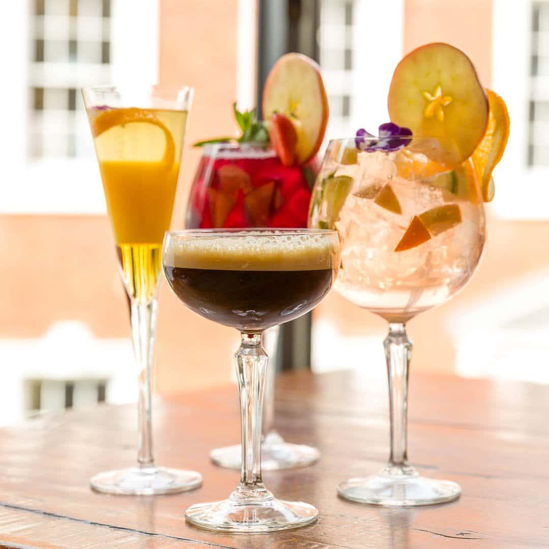 Sangria, cava sangria, espresso martini and mimosa