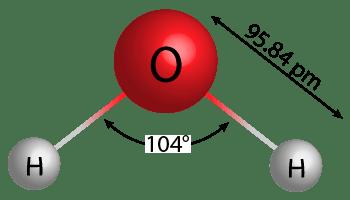 ejemplo masa molecular con molecula de agua