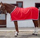 couverture coton rouge