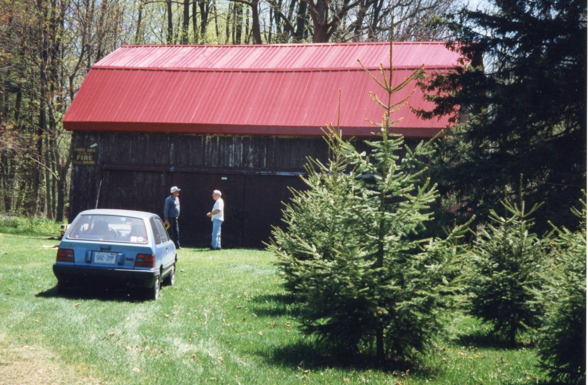 New roof put on red barn in 1998/1999.