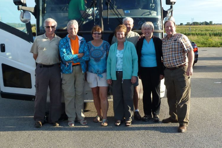 Our group arriving back in London after great day hiking part of Maitland Trail with TVTA, GVTA and Guelph HTC members.