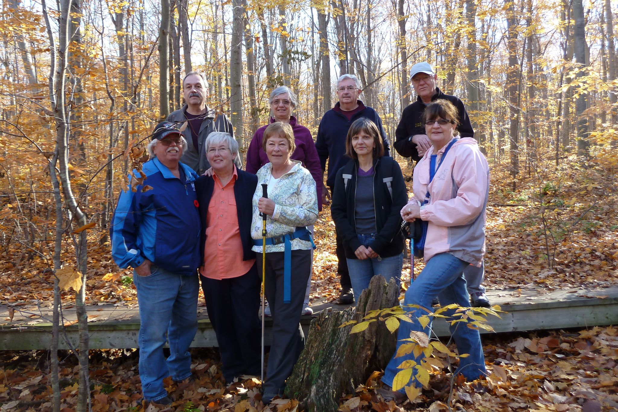 Fall hike in Springwater C.A. Glad Ray and Daniela could join us.
