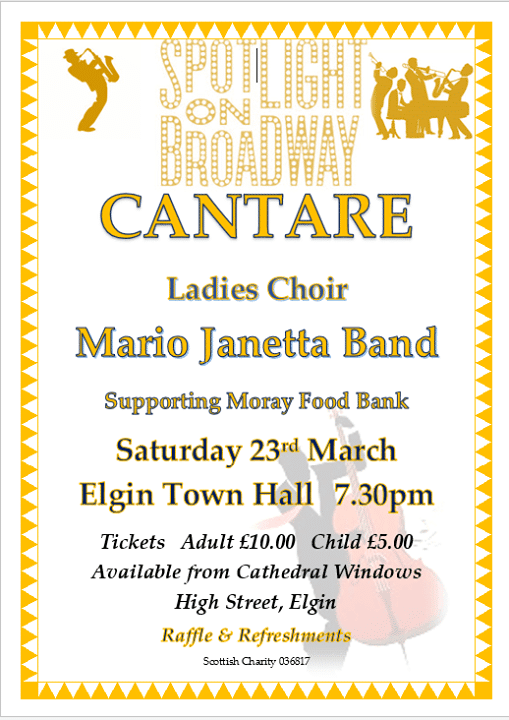 "Cantare Ladies Choir perform ""Spotlight On Broadway"" at Elgin Town Hall on the 23rd…"