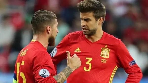 Piqué y Sergio Ramos